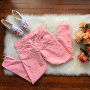 GAP Pink Cord Jeans Skinny Corduroy Pants